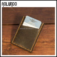 Retro Durable Slim Design Leather Business Card Case