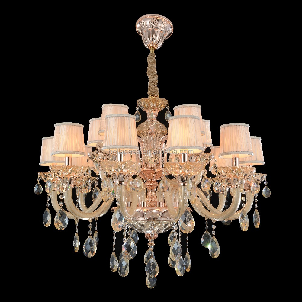 Luxury Cheap Wholesale Glass Crystal Chandelier Lighting with lamp Shade