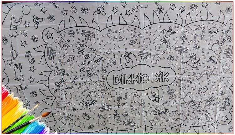 Table Cloth / Kids Drawing Paper Table Cloth As A Christmas Gift