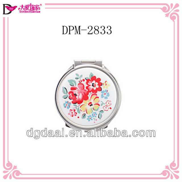 Hot new product chinese new purse mirror metal compact mirror for best selling korean cosmetic