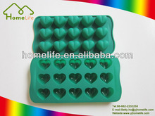 Hot sale Unique design colorful Food grade Silicone 15pcs heart shape Silicone candy mold