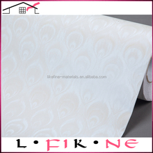 Wide format self adhesive vinyl sheet wall covering