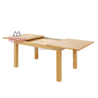301 Modern style oak large extending dining table/ dining room furniture