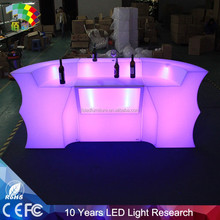Foshan wholesale art outdoor swimming pool led bar table set