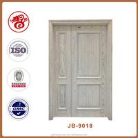 European solid wooden door style main entrance door design one and half door