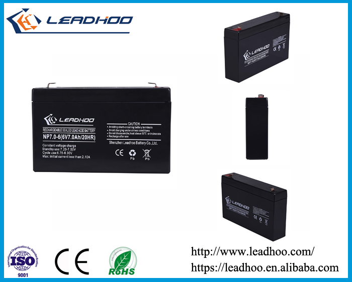 sealed lead acid storage battery 6v 7ah sla agm battery