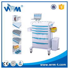 chinese medical equipment trolley with drawers cabinet used in hospital