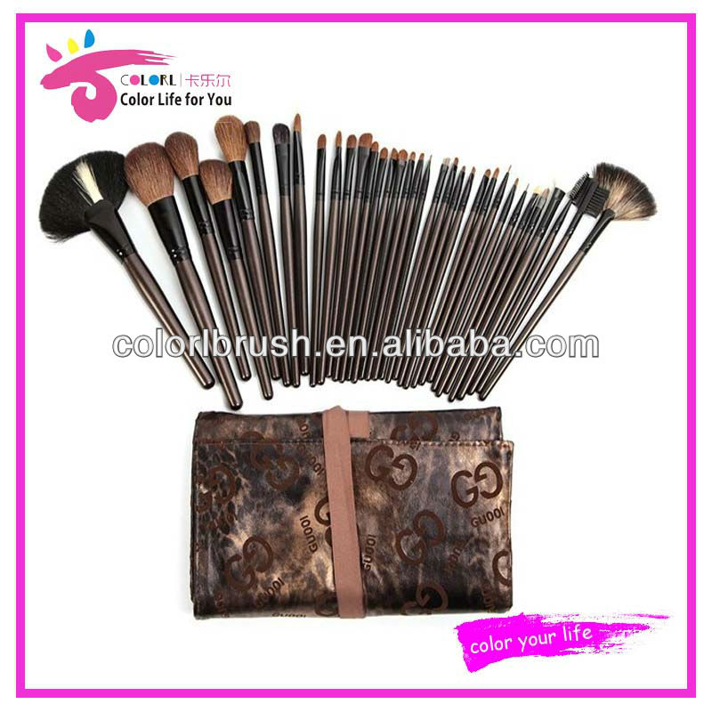 natural goat hair makeup cosmetics brush full set shenzhen china