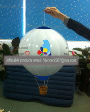 advertisement mini inflatable hanging parachute balloon for sale