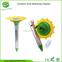 powerful sunflower LED light solar sonic sound wave mole snake vole repellent
