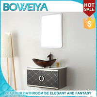 China Factory Cheap German Style Lowes Bathroom Vanity Cabinets
