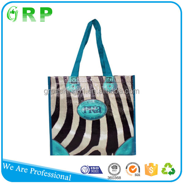 Modern design eco environmental promotion shopping use pp non woven promotional bag