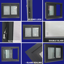 2017 New Design AS2047 price of aluminium frame sliding glass windows for residential house building