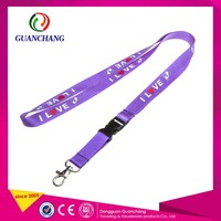 Exquisite Promotional Gifts Stain Lanyard Lobster Clasp Material