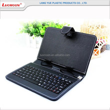 Factory Directly Sale PU Leather 7 Inch Tablet Flip Leather Keyboard Case, Universal Leather Cover For Ipad With Steady