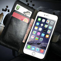 Crazy horse Walet Leather Flip Case for iPhone 5, for iPhone 6 Flip Leather Case Cover, for iPhone6 Flip Phone Case