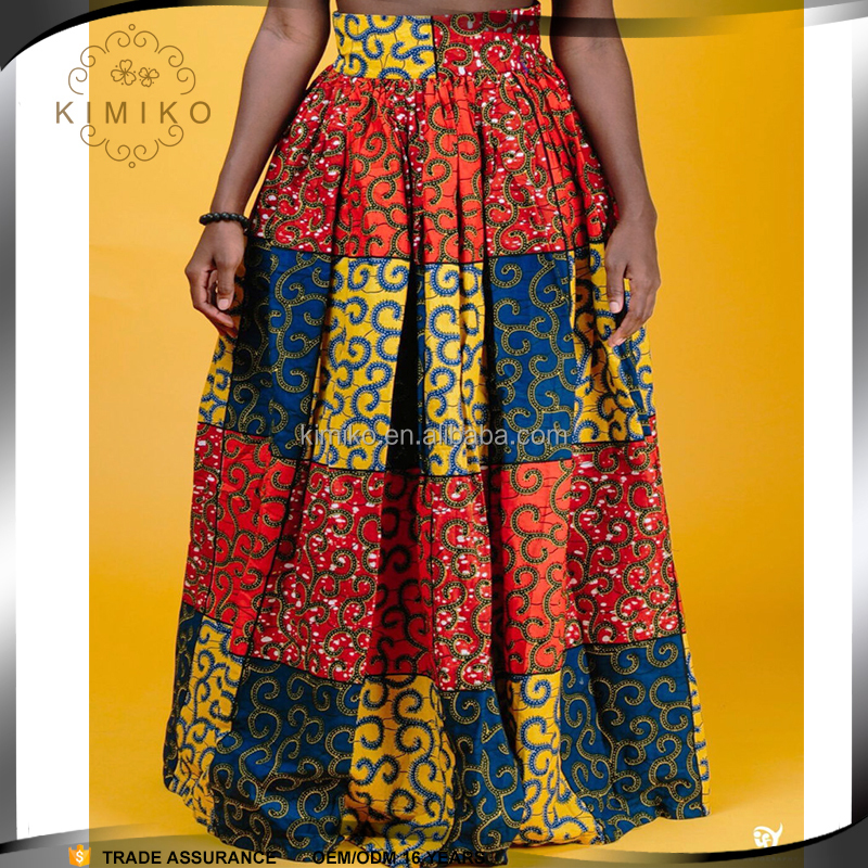 Manufacturer Hot Sale African Print Long Skirt