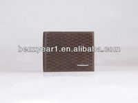 Wholesale trend european style top grain cow leather man wallet purse