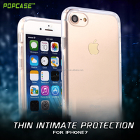 High quality factory price transparent PC+TPU thin mobile cover case for Iphone7