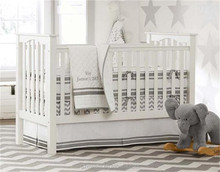 European style 100% cotton embroidery super soft boy Bed linen set/Baby crib bedding sets