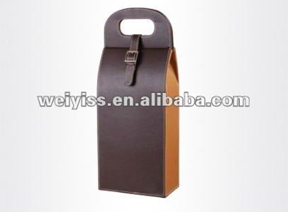 Lastest design fashion leather wine holder , metal luggage tags with leather strap