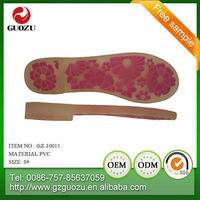 Wear-resistant PVC shoes sole sheet