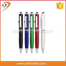 Slim metal twist ball-point pen with touch screen stylus