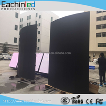 p6 outdoor rental led curve/flex cheap led video wall 6mm flexible led display