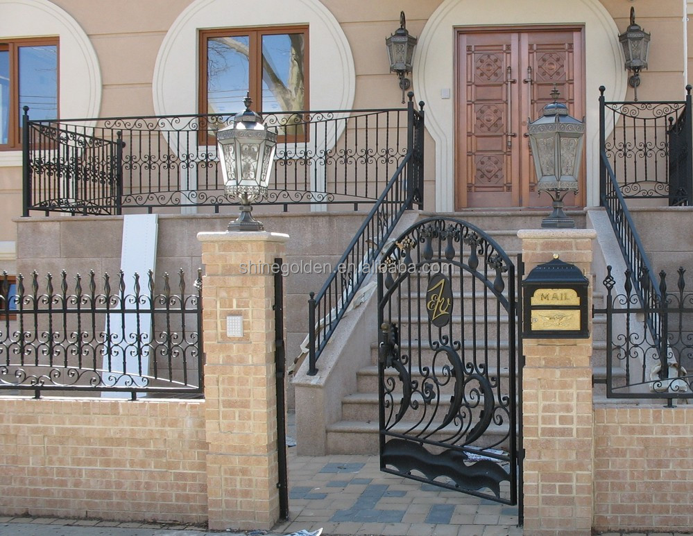 New style wrought iron main gate colors SG-15G013