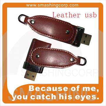 Leather Material Usb Flash Drive Bulk Cheap Promotional /wholesale 8gb Usb Pen Drive