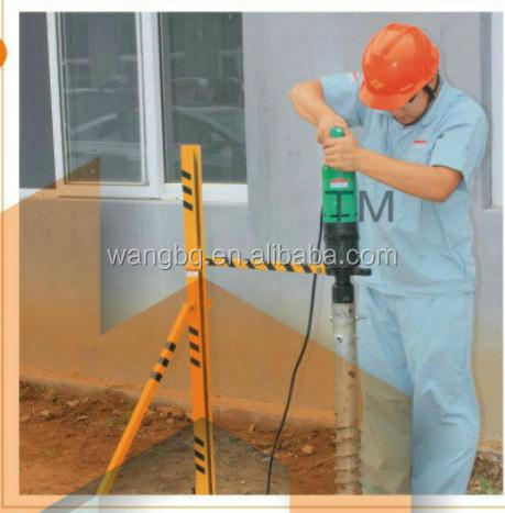 handheld drilling machine for ground screw anchor