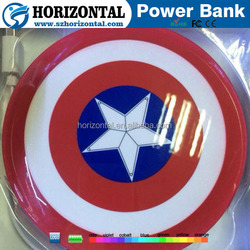 Factory Captain America shield power bank , America Captain gifts power bank , UFO power bank china