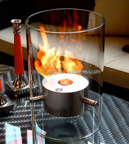 ethanol fireplace table top unit
