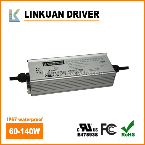 UL standard 277v 140w ip67 waterproof led driver