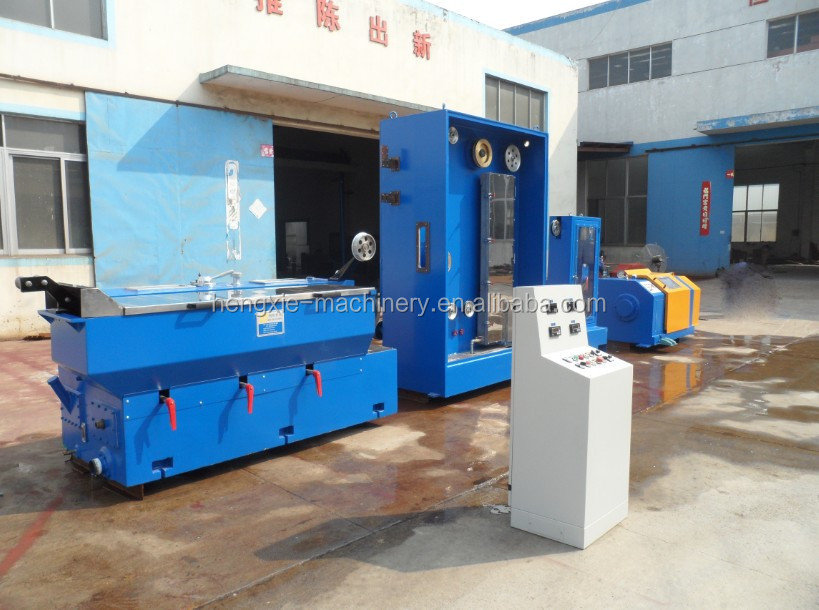 medium copper wire continuous drawing machine with annealer