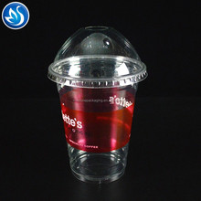 Custom printed disposable plastic Coffee Drinking PP/PET cup with lid