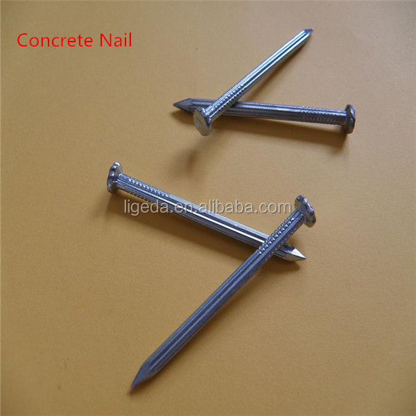 Black galvanized steel concrete nail with high quality