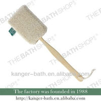 Square Hemp Wooden Back Scrubber With