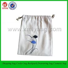 Cheap Printing Cotton Fabric Drawstring Gift Bag
