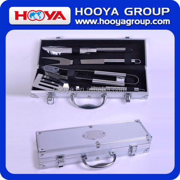 4PC BBQ TOOL IN BOX/FORK,CLIP,KNIFE,SPADE