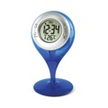 Environmentally friendly no battery required water powered thermometer clock