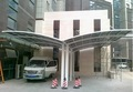 LanYu outdoor all new aluminium double car canopy with polycarbonate sheet