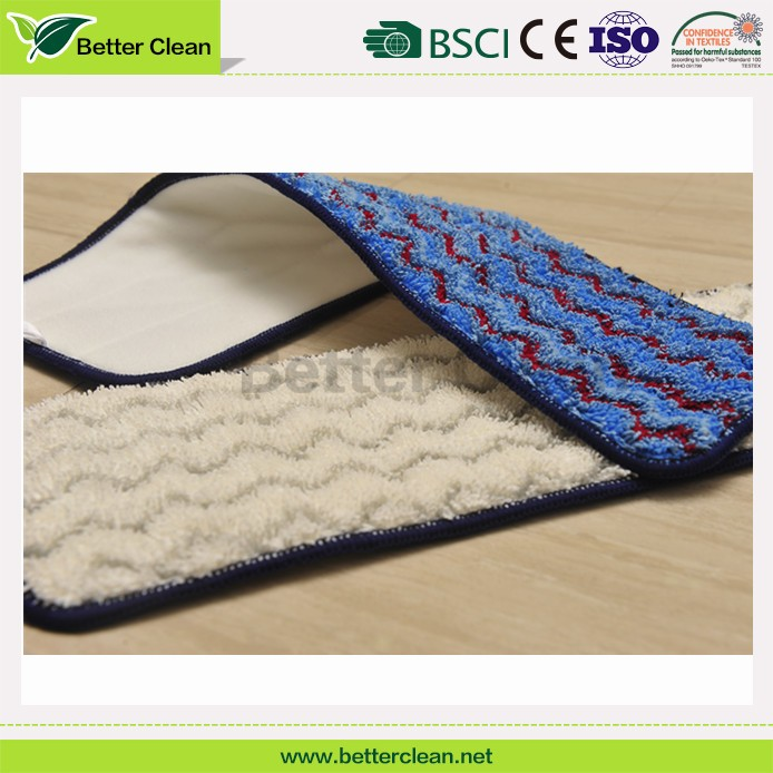 Chenille flat magic clean replacement microfiber wet steam mop head pad for floor cleaning