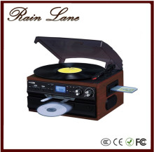 Rain Lane Best -Selling Bluetooth receiver function vinyl record Player classic Turntable Hi-Fi stereo System with USB SD CD