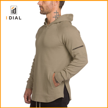 High quality OEM sportswear wholesale plain blank compression gym running hoodies