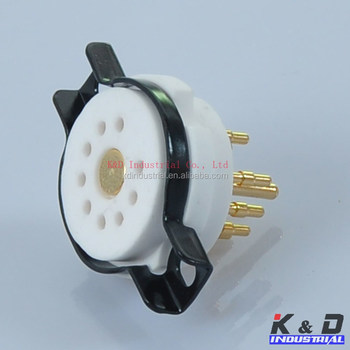 CMC Ceramic Gold Tube Socket for 9 Pin ECC83 12AX7 EL84 6BQ5