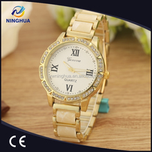 New Arrival Hot Sales Diamond Fashion Watch For Laides Geneva Style Quartz Movement Wristwatch
