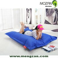Outdoor indoor waterproof fabric oversized square sitting puffs bean bags without beans