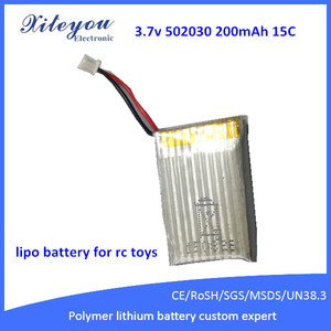 3.7v 502030 200mAh Wholesale High Rate 20C Lipo Battery RC Helicopter Polymer Battery