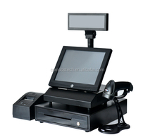 12 Inch all in one touch screen cashier machine for sale use in restaurant/supermarket/ retail shops